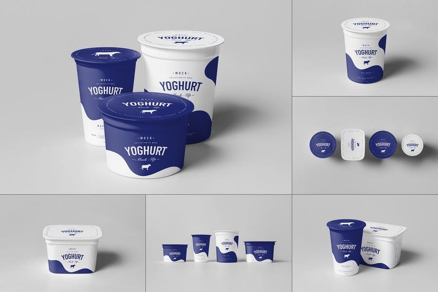 Realistic Yogurt Packaging Mockup PSD