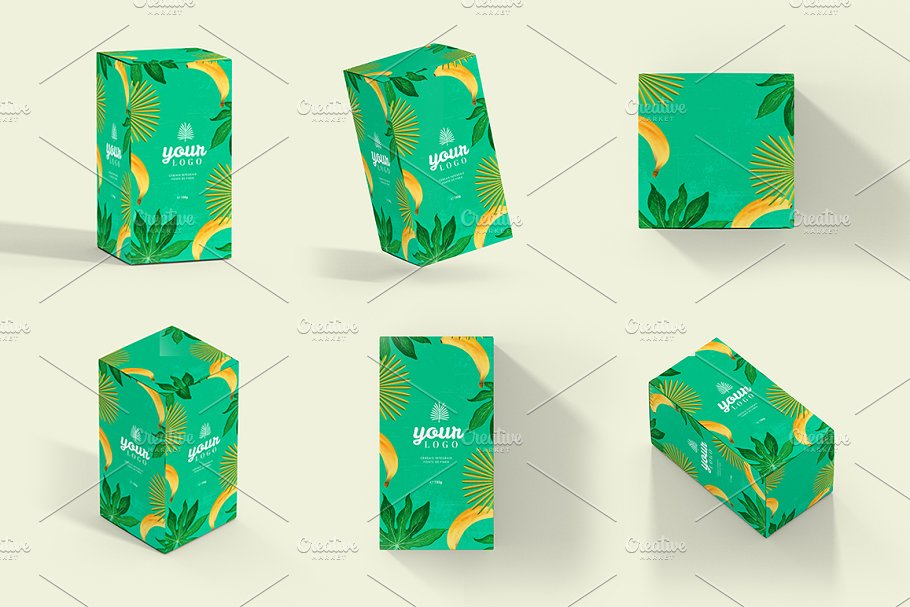 Rectangle Boxes Mockup PSD