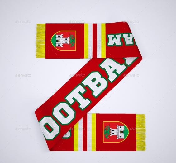 Soccer Scarf Branding Mockup