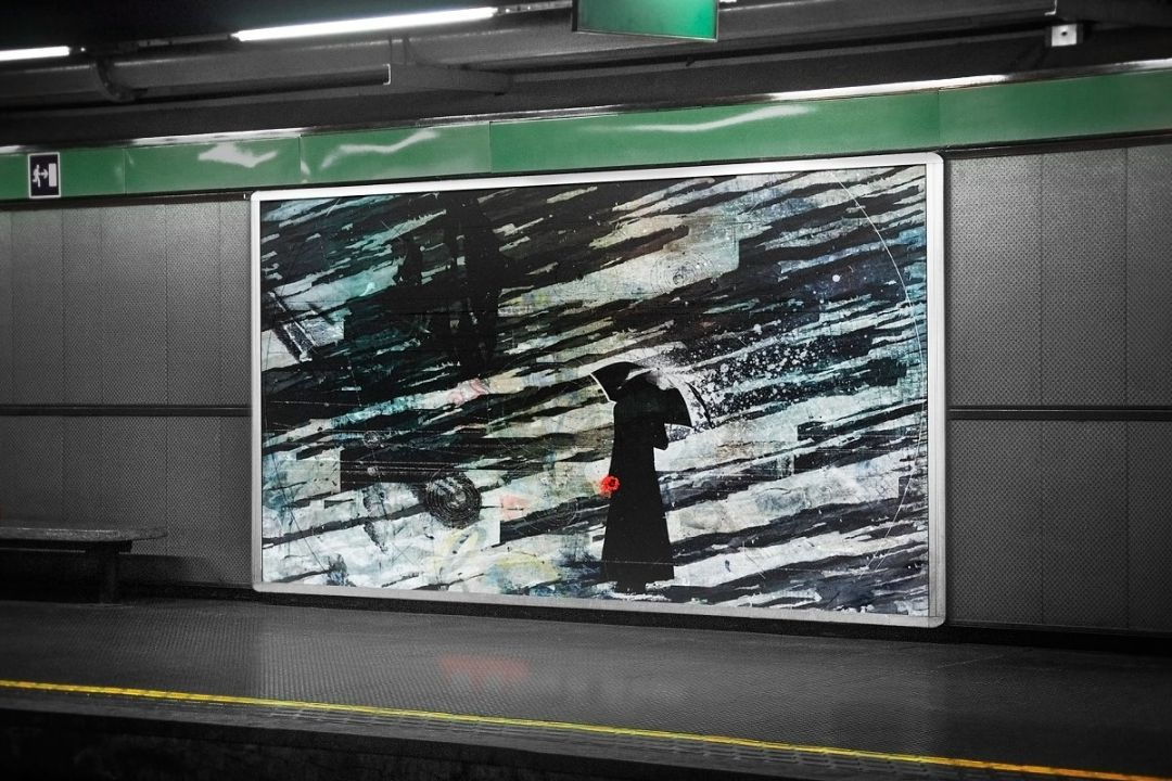 Subway Advertising Mockup PSD