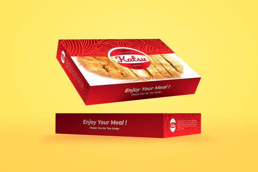 Take Away Food Box Mockup