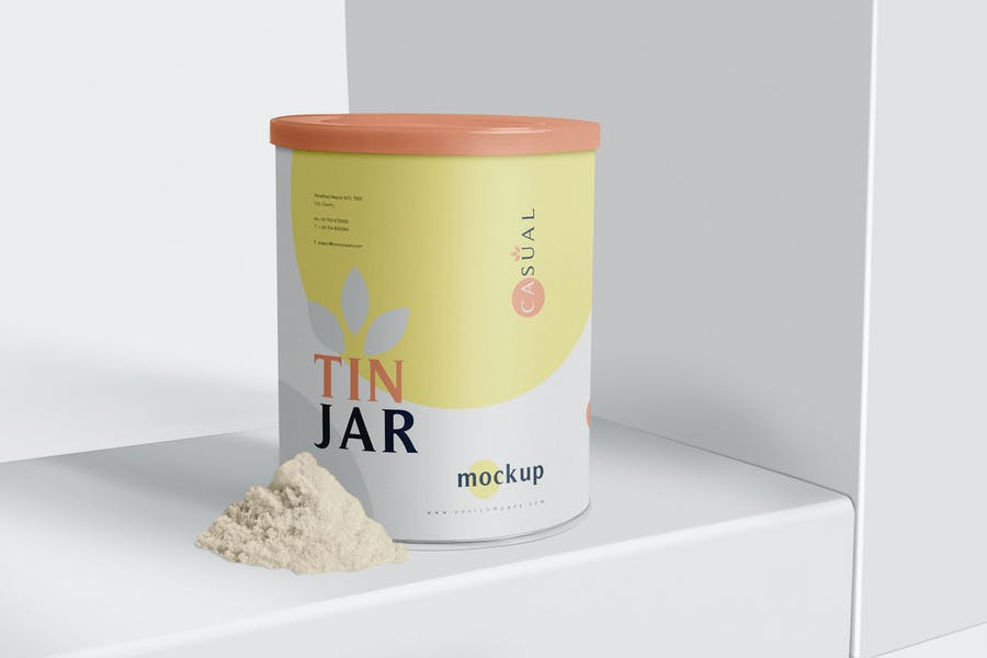 Tin Jar Packaging Mockups