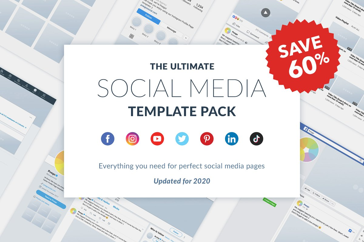 Ultimate Social Media Pack Mockup