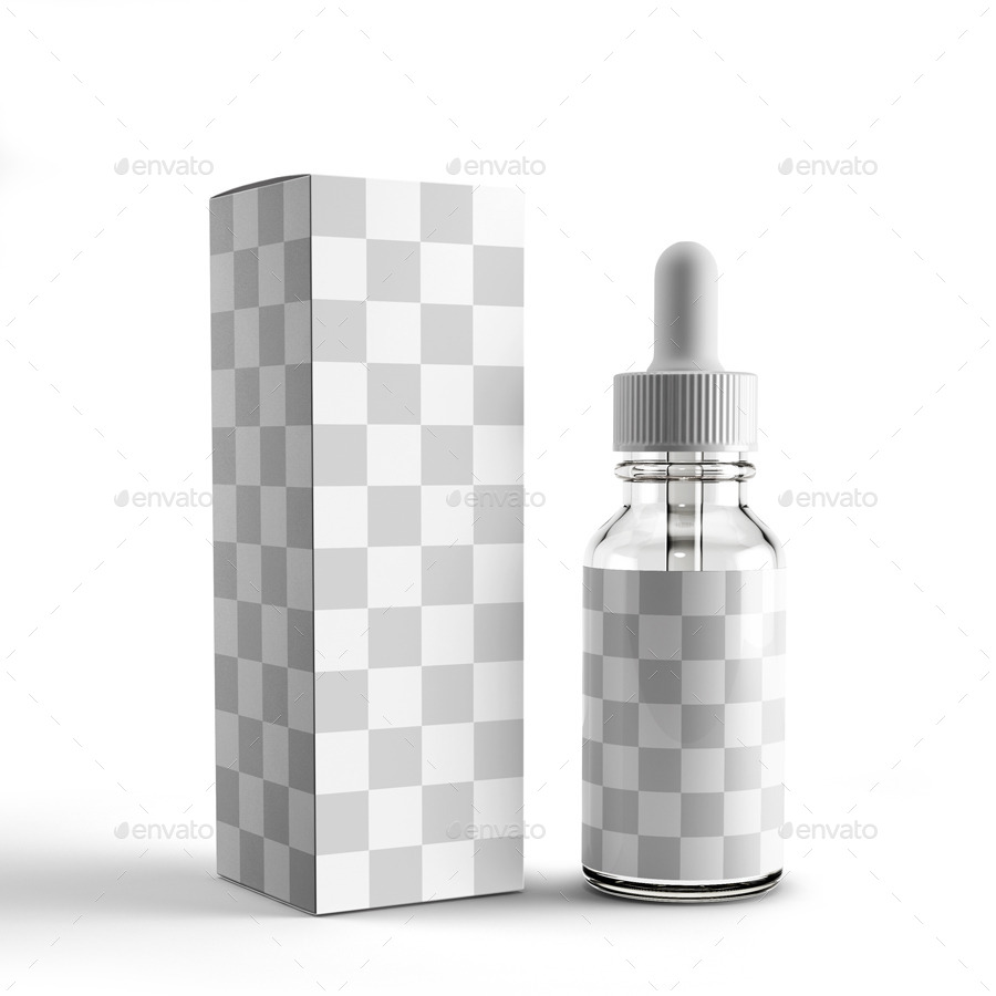 Unicorn Dropper Bottle Packaging Mockup