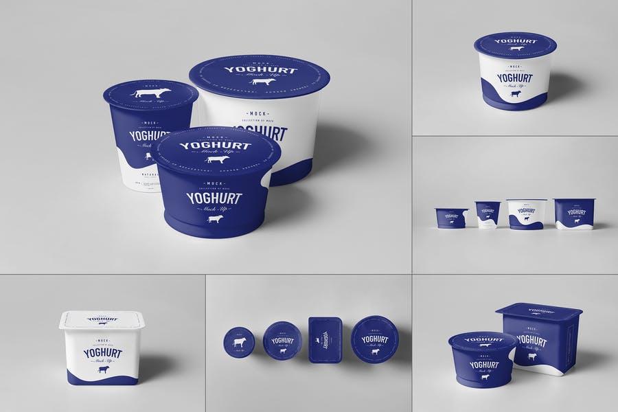 Yoghurt Packaging Cup Mockup PSD
