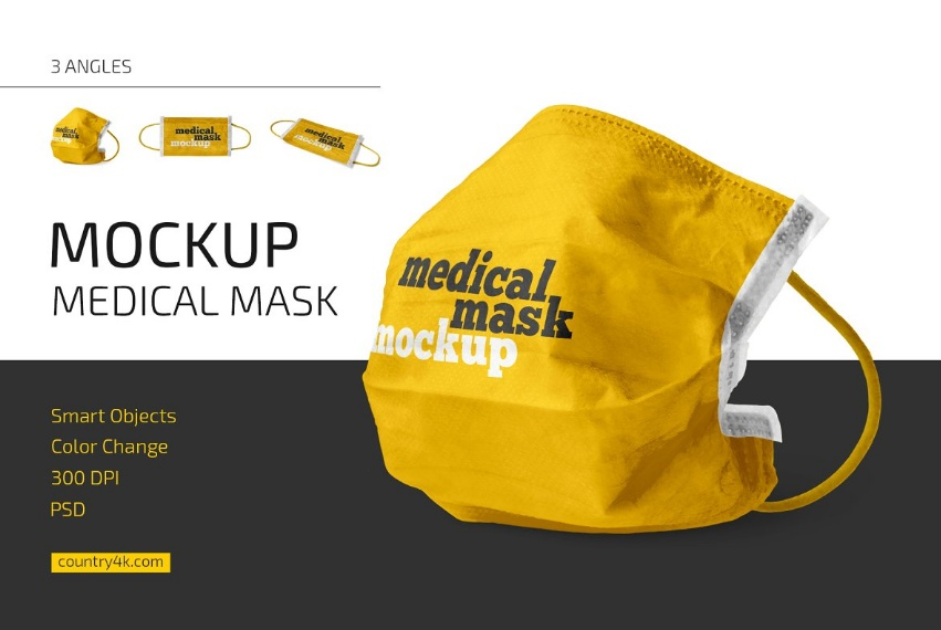 3 Medical Mask Mockups