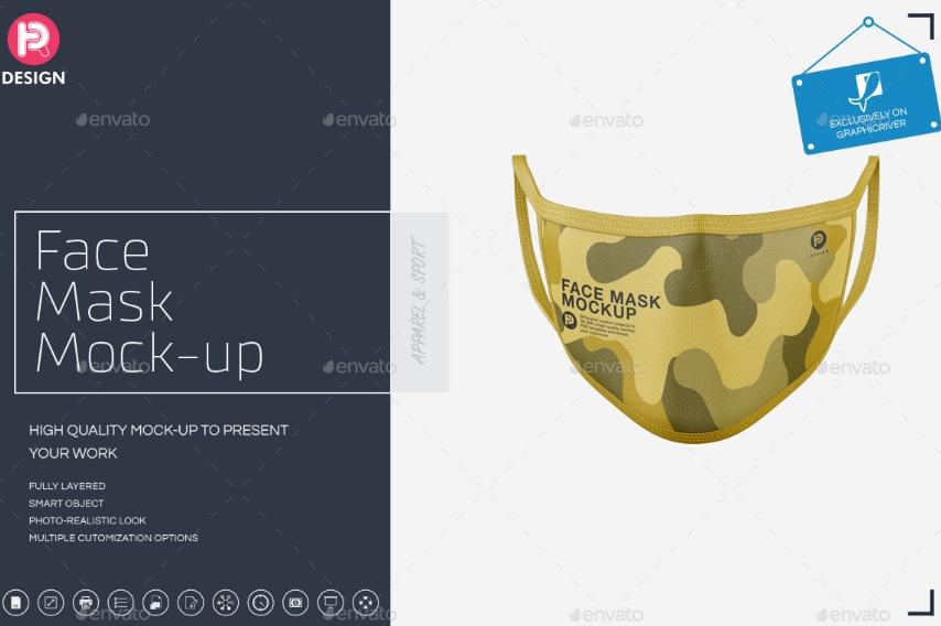 3D Mask Mockups PSD