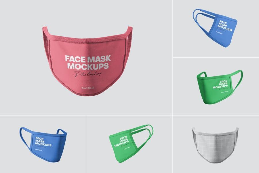 5 Photo Realistic Face Mask Mockups
