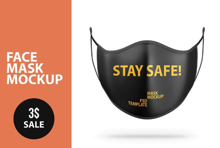 Anti Pollution Mask Mockup PSD