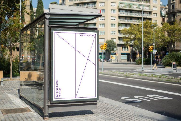 Barcelona Billboard Mockup PSD