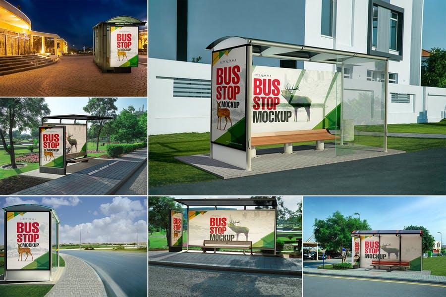 Best Bus Stopp Mockup Bundle
