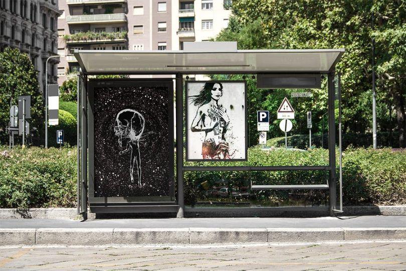 Bus Stop Flyer Mockup PSD