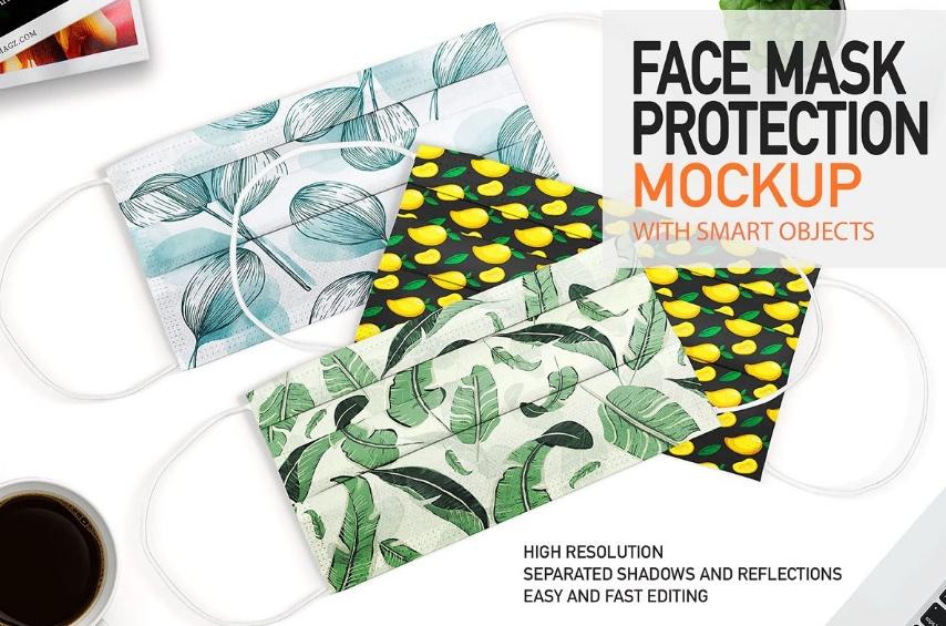 Editable Face Mask Mockups