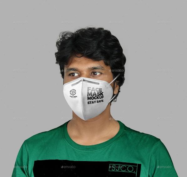 High Quality Face Mask Mockups