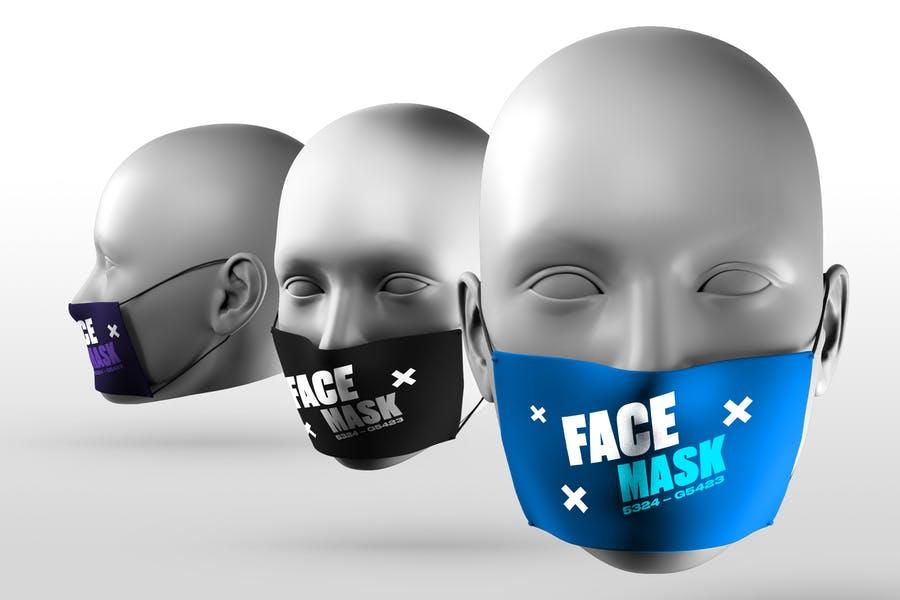 High Resolution Face Mask Mockups