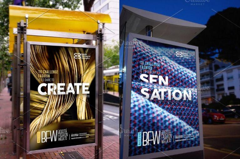Modern Billboard Mockup PSD