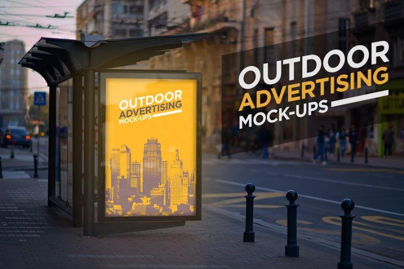 Outdoor Advertising Ad Mockup PSD