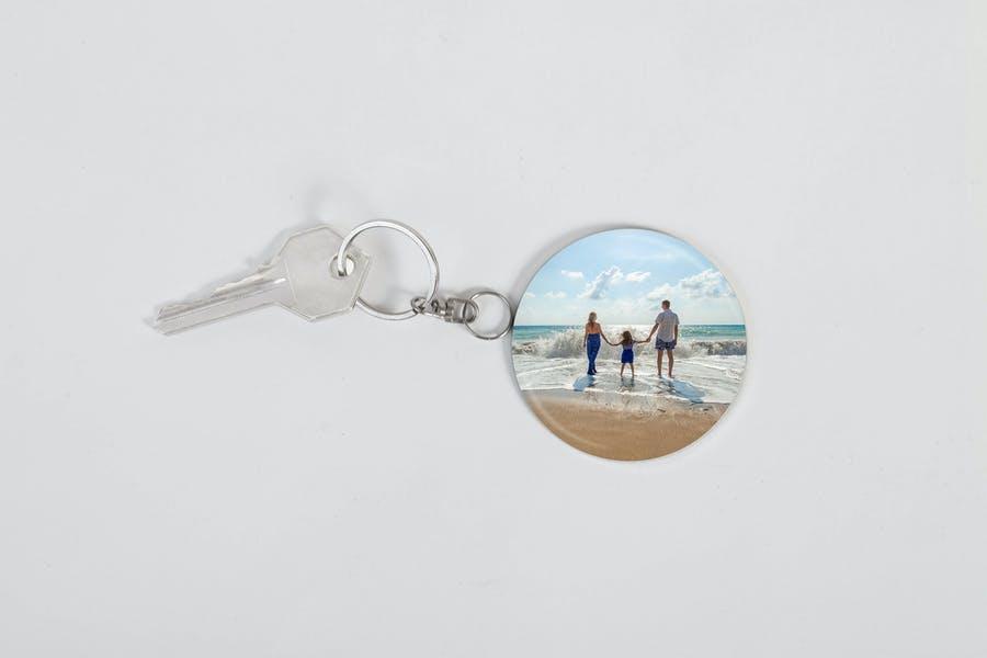 Photo Keychain Mockup PSD