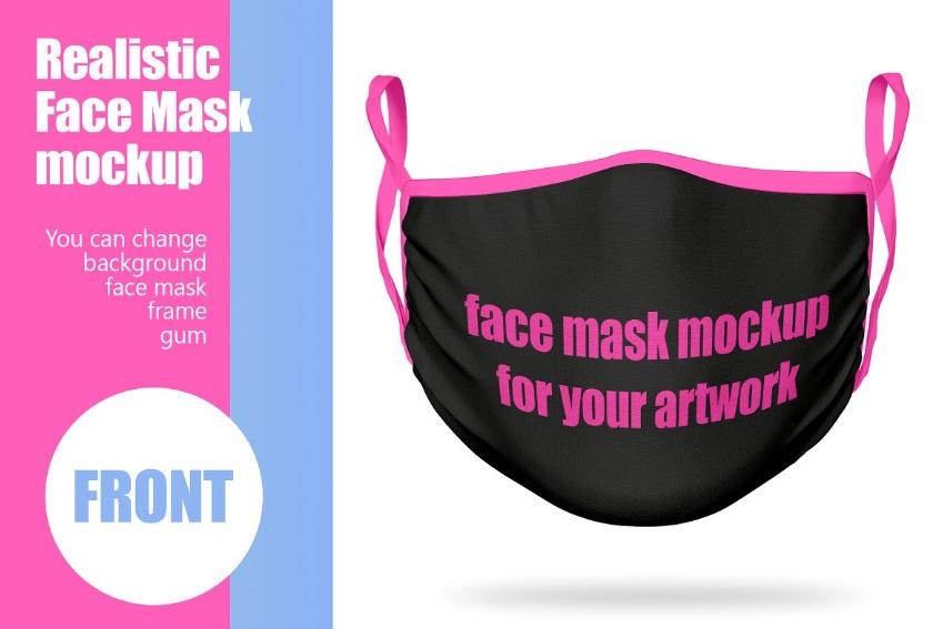 Realistic Mask Branding Mockup