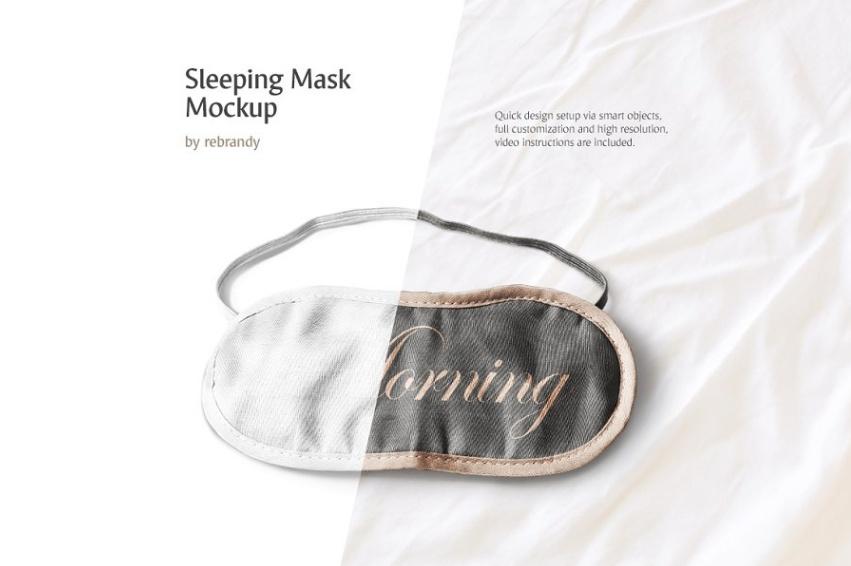Sleeping Mask Mockup PSD
