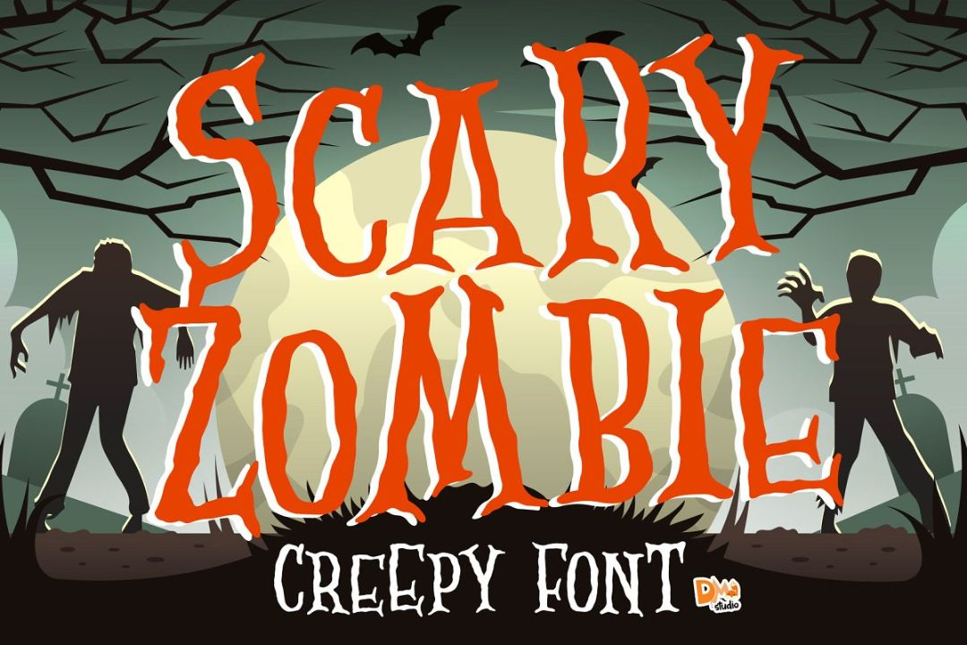 Best Creepy Zombie Font