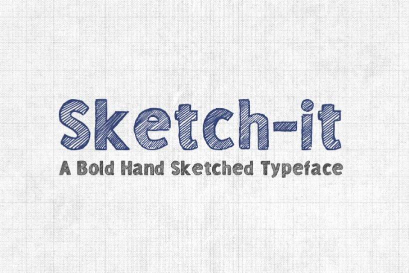 Bold Hand Sketched Fonts