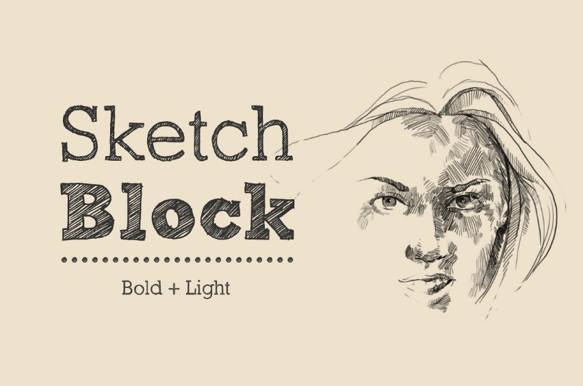 Bold and Light Sketch Fonts