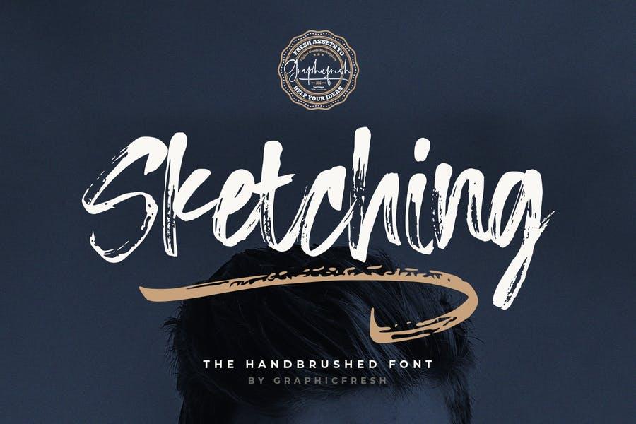 Handbrushed Sketch Fonts