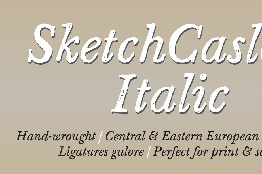 Italic Grunge and Sketchy Fonts