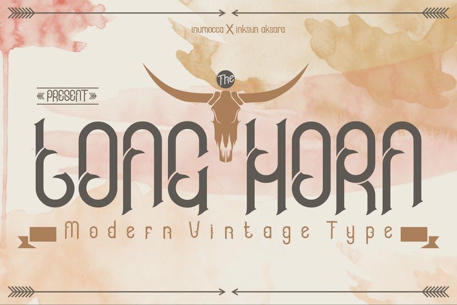 Long Horn Decorative Fonts