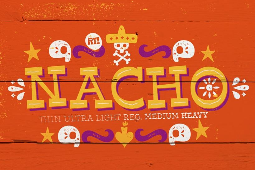Mexican Comic Fonts Typeface