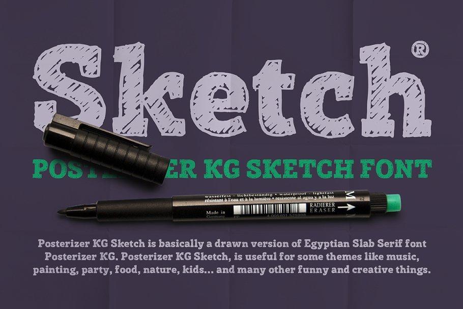 Modern Decorative Sketch Fonts