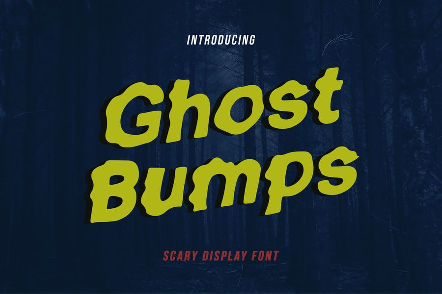 Professional Ghost Display Fonts