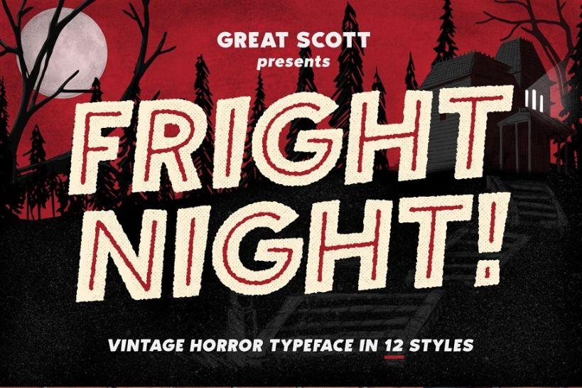 Retro Vintage Scary Fonts