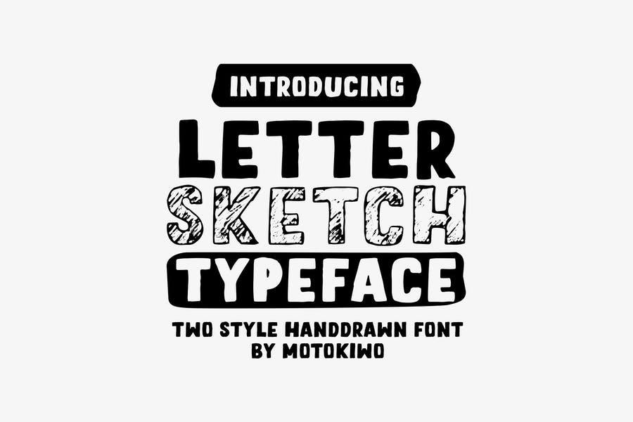 Sans Serif Sketch Typeface
