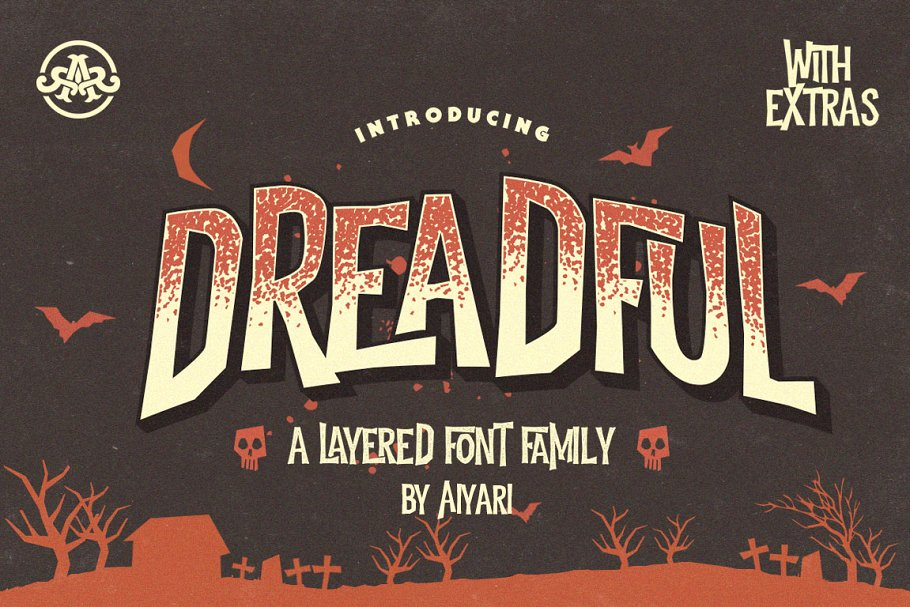 Vintage Scary Display Fonts