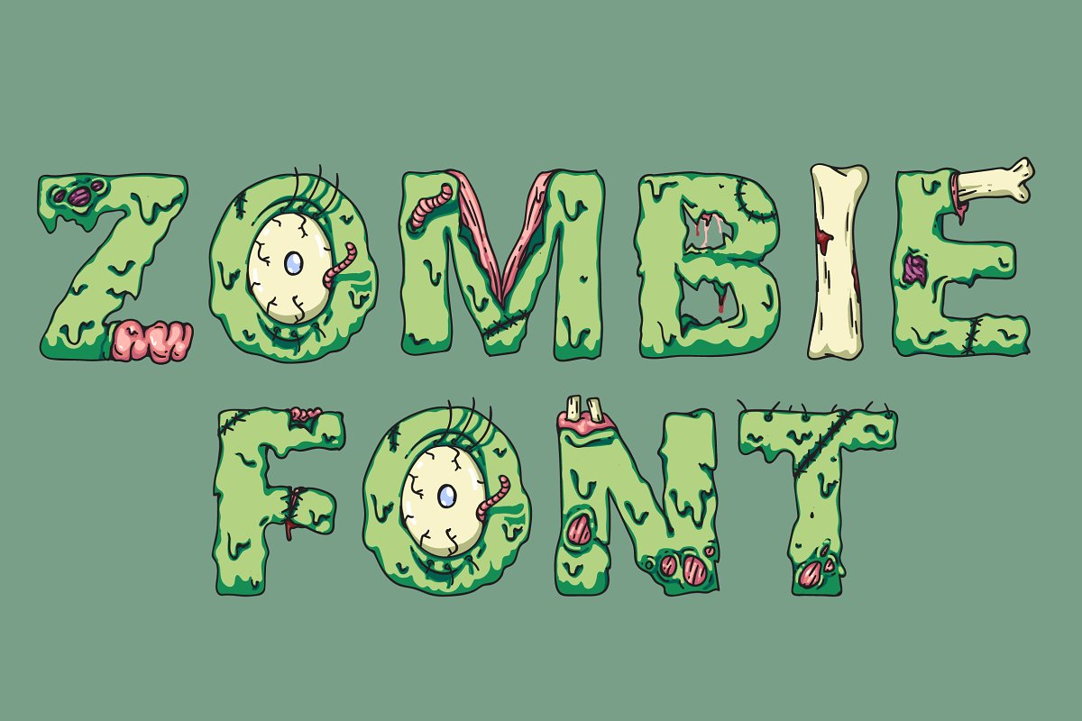 Zombie Scary Fonts Download