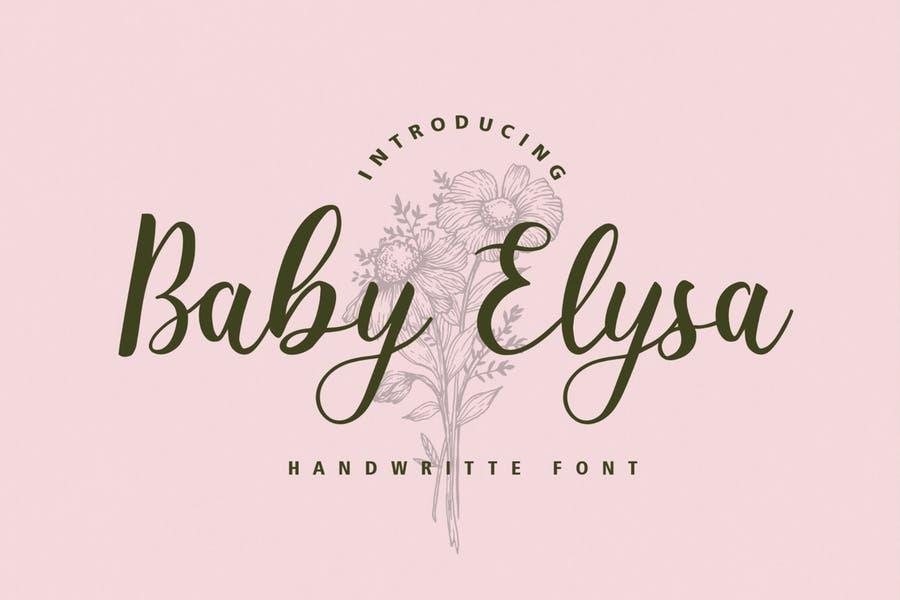 Baby Elysa Wedding Fonts