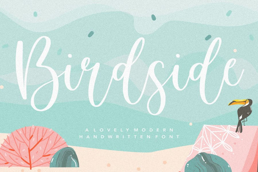 Birdside Wedding Typeface