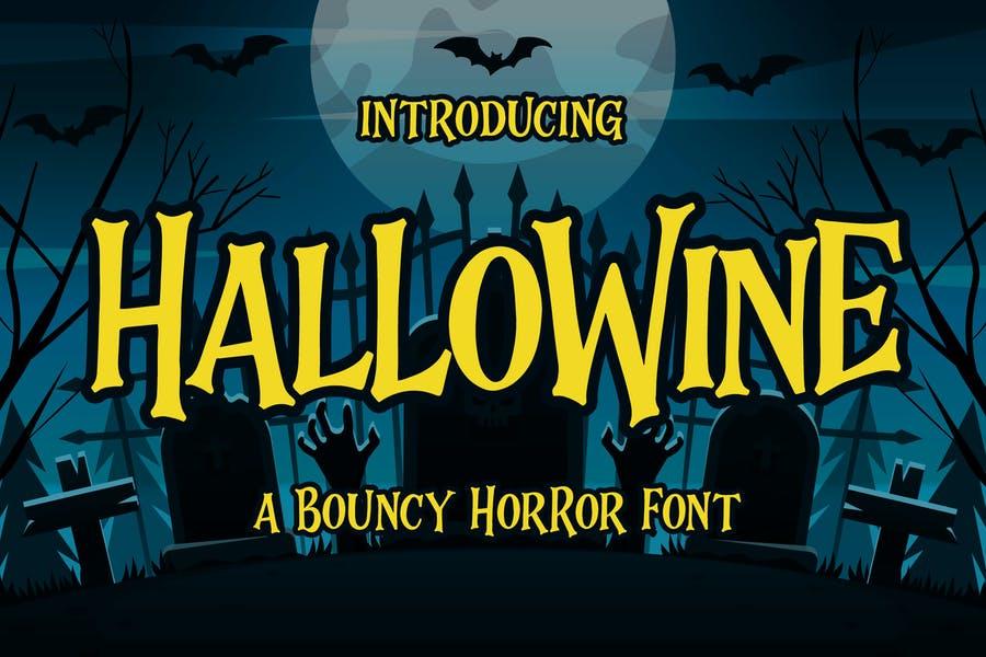 Bouncy Halloween Horror Font