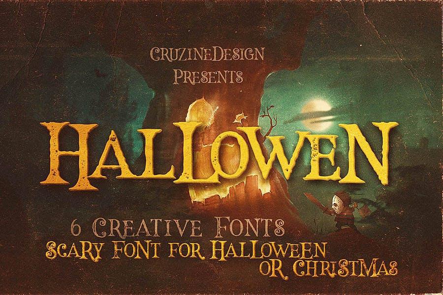 Creative Halloween Scary Fonts