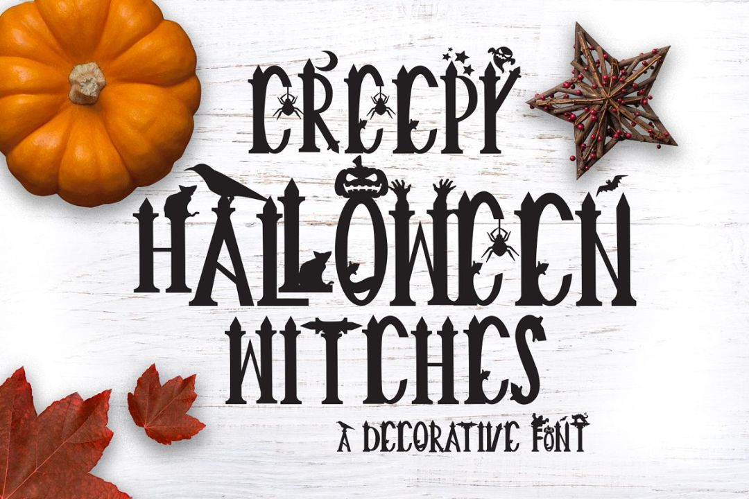 Decorative Halloween Display Fonts
