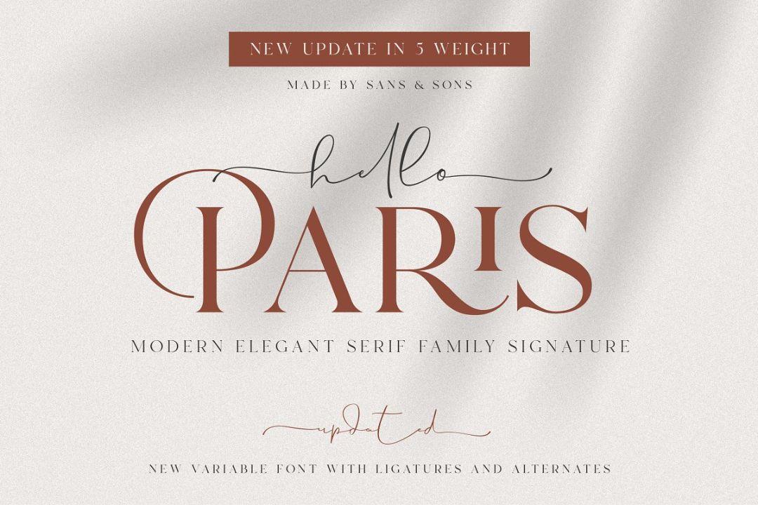 Elegant and Stylish Family Fonts