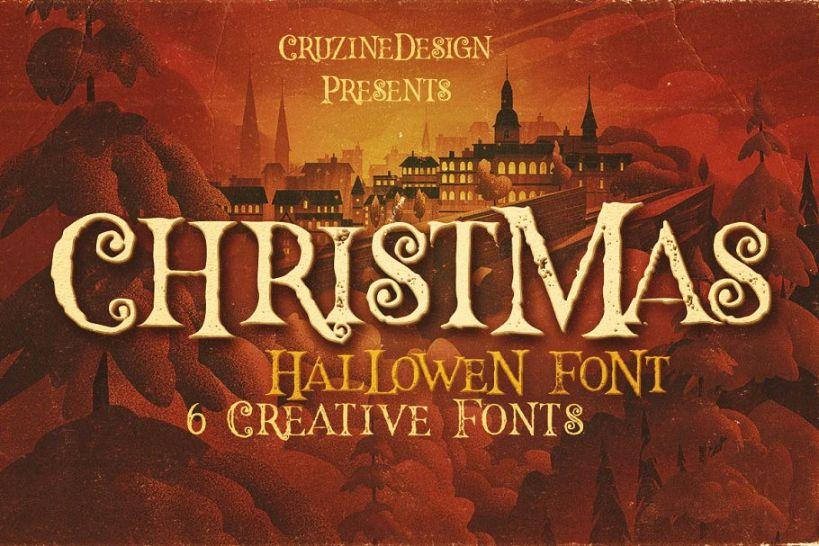Grunge Halloween Typography fonts