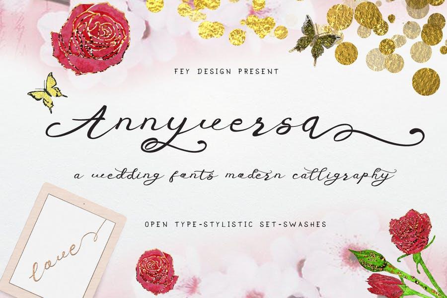 Hand Written Anniversary Fonts