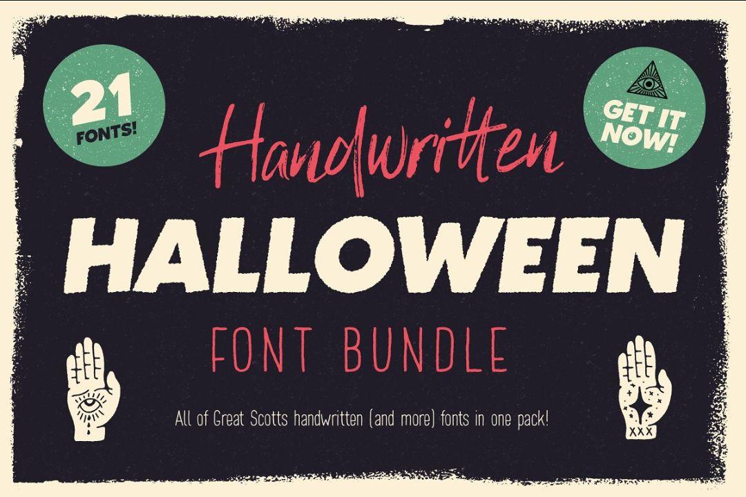 Handwritten Halloween Font Bundle