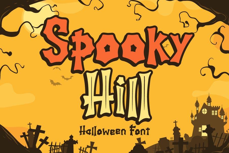 Inline and Regular Halloween Fonts