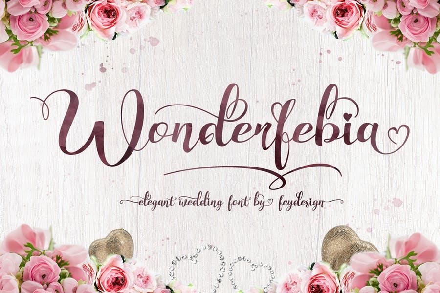 Unique Wedding Fonts