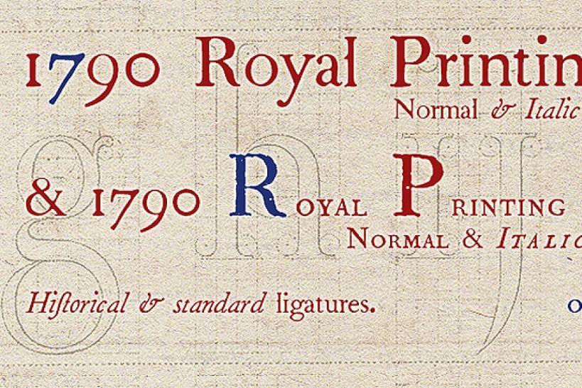 1970 Royal Printing Fonts