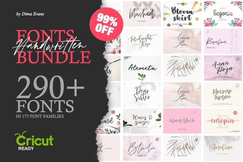 290 Feminine Fashion Font Bundle